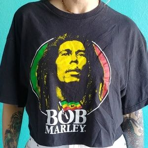 Classic Old Bob Marley Zion Rootswear cropped tee